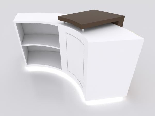 MOD-1585 Custom Trade Show Curved Reception Counter -- Image 4