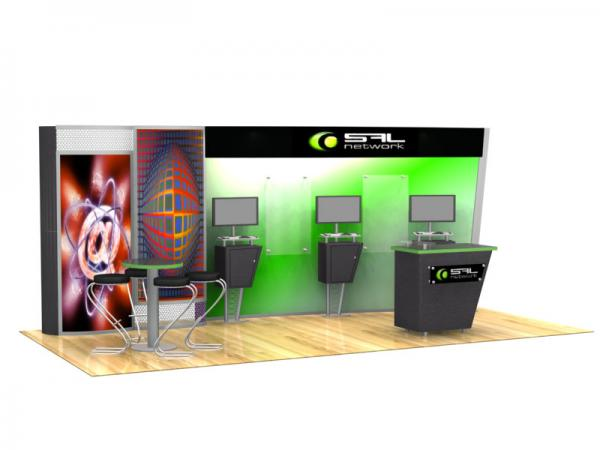 VK-2063 Trade Show Display with LTK-1145 Counter
