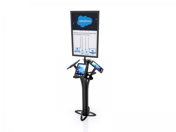 MOD-1347 Portable iPad Kiosk -- Black -- Aluminum Base