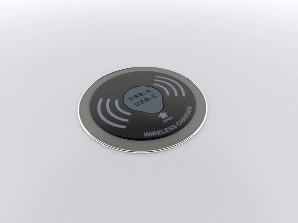 Wireless and Wired Charging Pad -- View 1