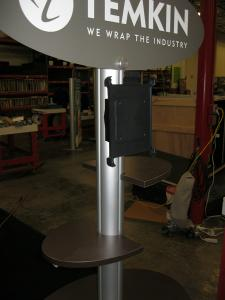 ECO-9K Kiosk with (2) iPad Holders, Eco Panel Locking Storage and (2) Adjustable Shelves -- Image 2