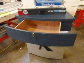 Custom Kiosk with Canopy and Storage Drawer -- Image 2