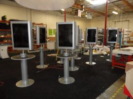 RENTAL:  Cell Phone Charging Stations with Monitors and Custom Crating -- Image 1