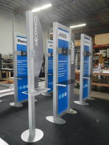 Custom Kiosks with Laminated Shelves, Large Monitor Mounts, and Graphic Wing Panels -- Image 3