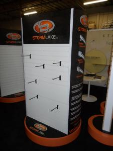 Custom Rotating Merchandising Racks with Slatwall and Graphics -- Image 2