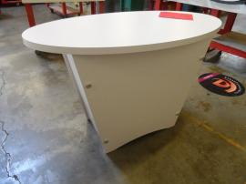Custom Tapered Pedestal with Locking Storage -- Image 1