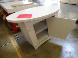 Custom Tapered Pedestal with Locking Storage -- Image 2