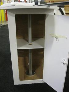 Modified ECO-9K with Solid Laminated Storage Base, Locking Door, Internal Shelf and Adjustable iPad Mount -- Image 2