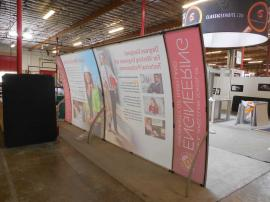 (2) VK-1062 Magellan Miracle Portable Displays with Tension Fabric Graphics, Shown as the 10 x 20 Version -- Image 2