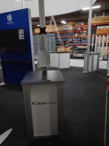 RENTAL: (4) RE-1219 Square Pedestals with Locking Doors and Interior Shelves