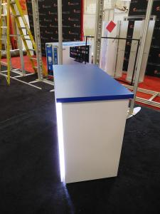 MOD-1556 Custom Counter with LED Lights and Locking Storage