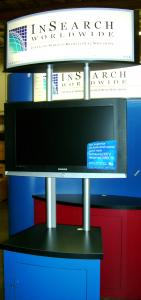 "Visionary Design Workstation/Kiosk with 32"" Flat Panel"