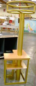 Visionary Designs Custom Kiosk with Tension Fabric Header