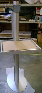 Visionary Designs Custom Workstation with Clear Plex Top