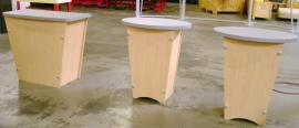 (3) LTK-1001 Tapered Pedestals, two Regular and One Custom