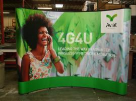 10 ft. Quadro S Pop Up Display with Full Mural Graphic Panels -- Image 1