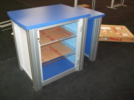 Modified MOD-1260 Counter with Shelves and Locking Storage --Image 2