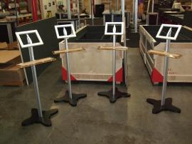 MOD-1276 Modular iPad Kiosks with Acrylic Keyboard Shelf -- Image 1
