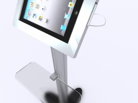 MOD-1276 Modular iPad Kiosks with Acrylic Keyboard Shelf -- Image 4