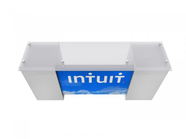 RE-1587 Sustainable Backlit Tradeshow Counter with Storage - View 3