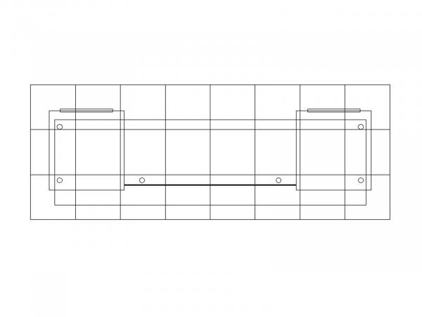 RE-1587 Sustainable Backlit Counter -- Plan View