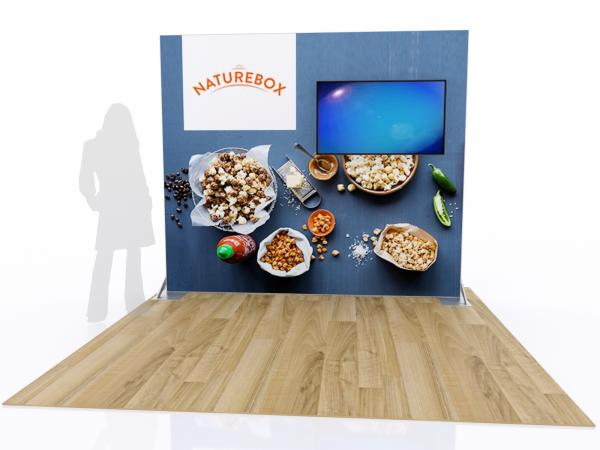 RE-1080 SEGUE Inline Exhibit with Fabric Graphic
