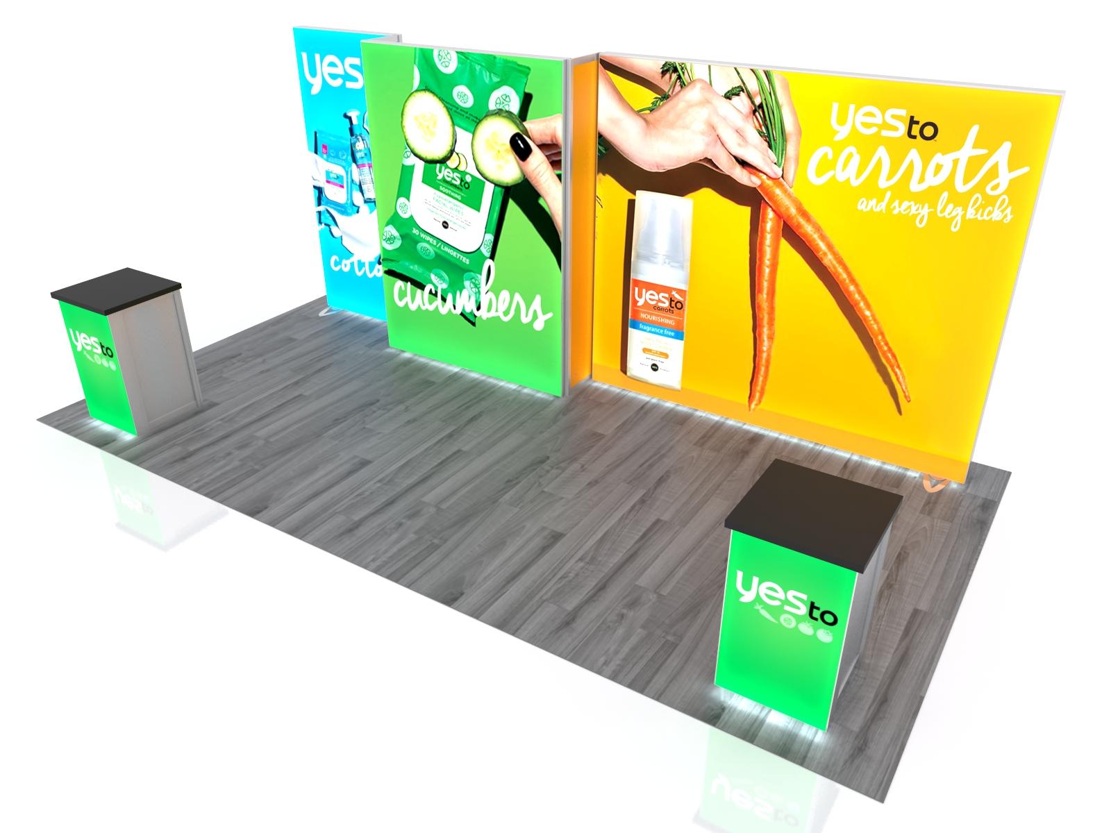 Exhibit Design Search - VK-2993 | Inline Lightbox (LED