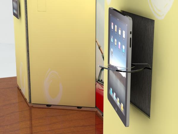 iPad Option Velcro Attaches to Fabric Backwall